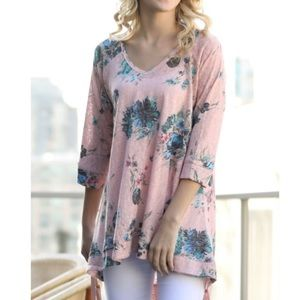 NWT Fever 3/4 Sleeve Textured Blouse 🌸
